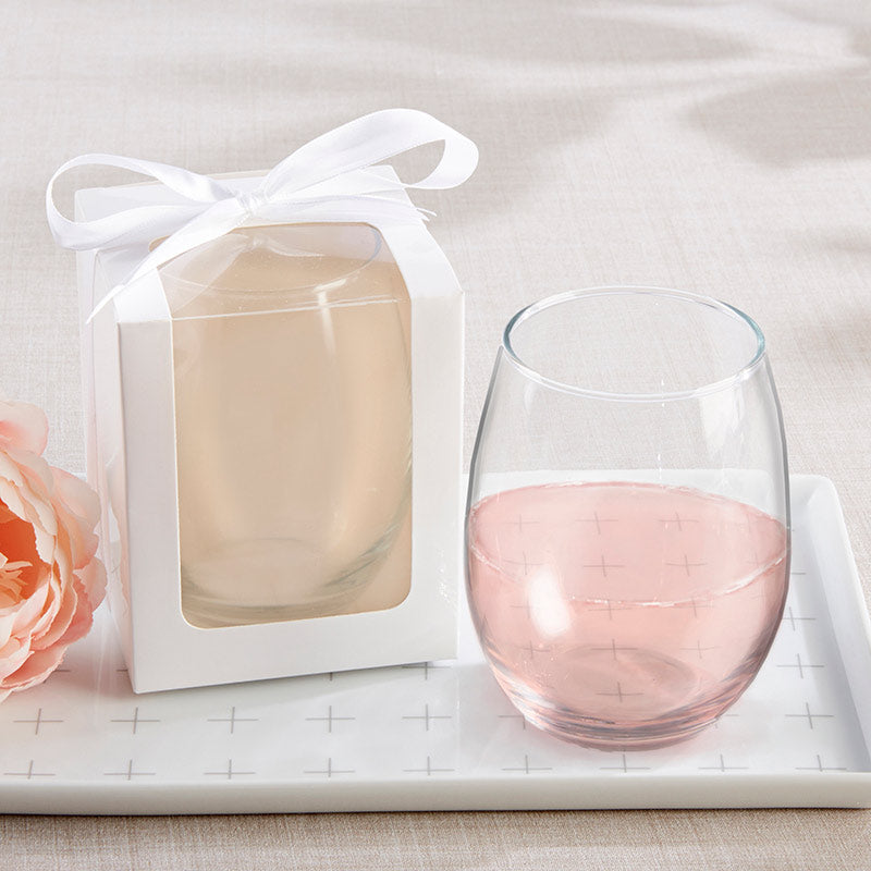 DIY 9 oz. Stemless Wine Glass