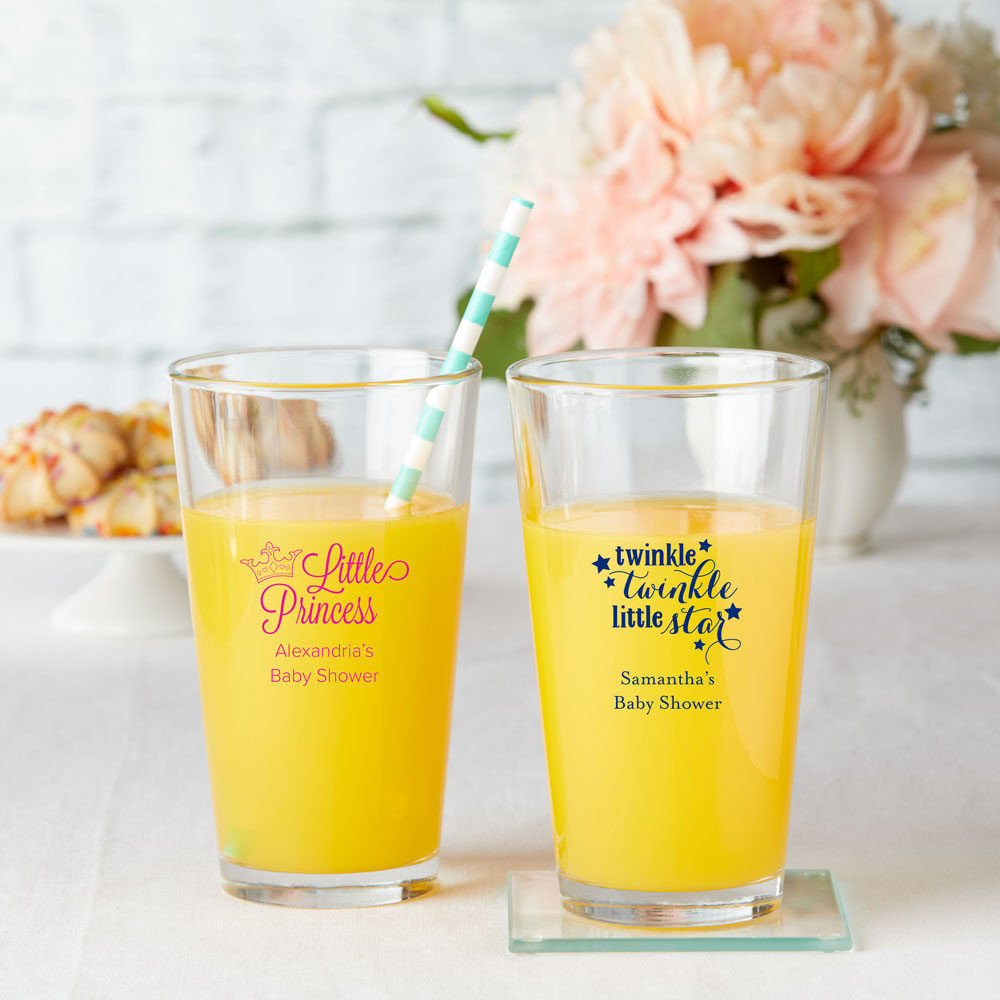 Baby Shower Personalized 16 oz. Pint Glass