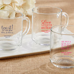 Personalized Wedding 10 oz. Glass Coffee Mug