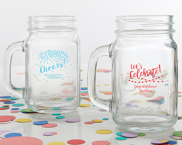 Personalized Party Time 16 oz. Mason Jar Mug