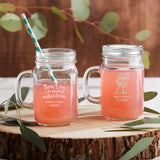 Personalized Wedding 16 oz. Mason Jar Mug