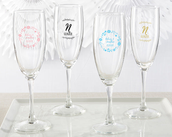 Personalized Ethereal Champagne Flute