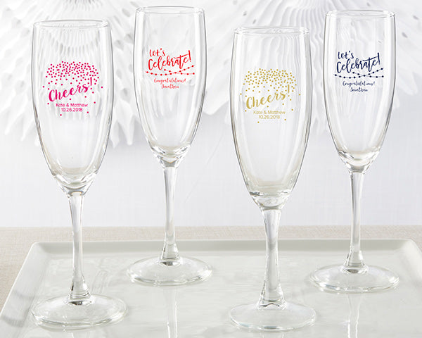 Personalized Party Time Champagne Flute