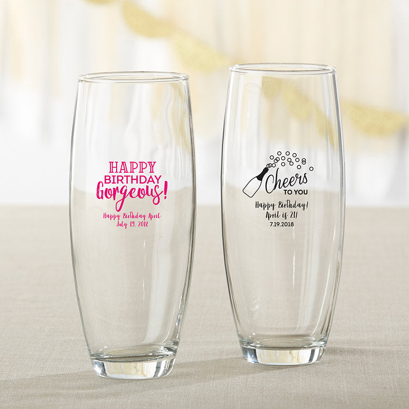 Personalized Birthday For Her 9 oz. Stemless Champagne Glass