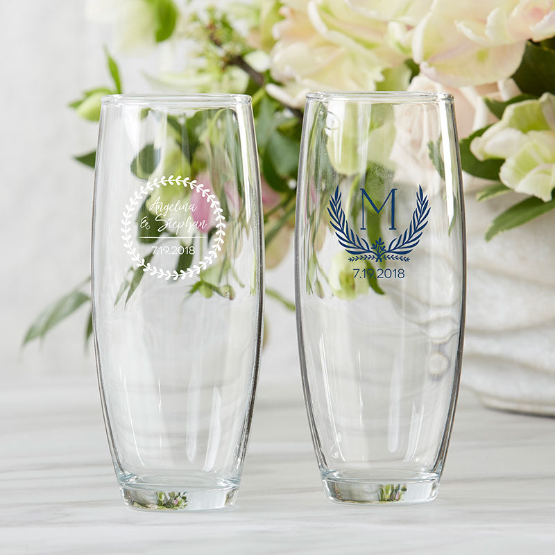 Personalized Botanical Garden 9 oz. Stemless Champagne Glass