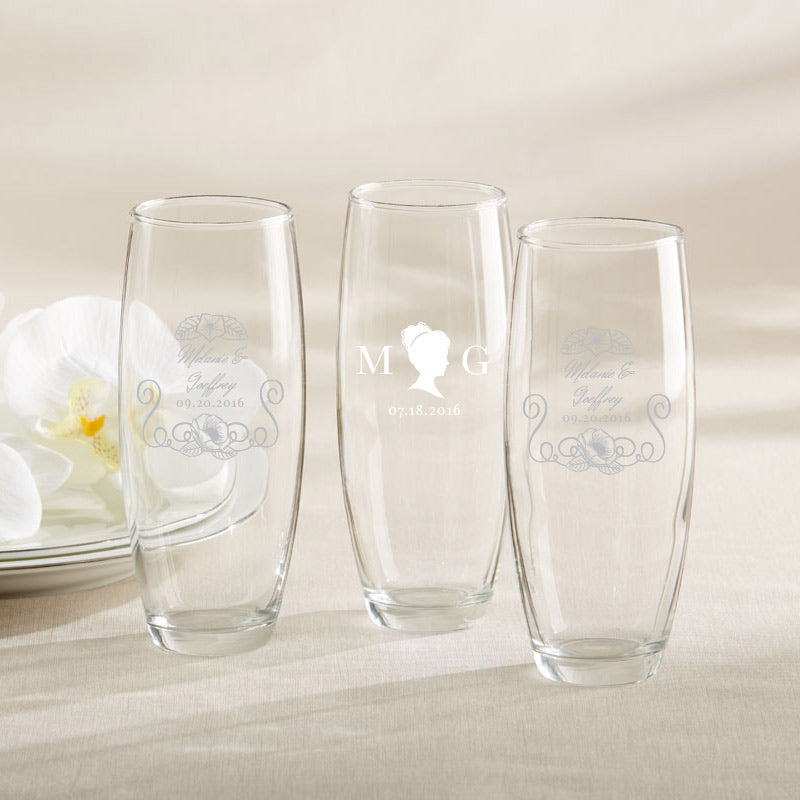 Personalized English Garden 9 oz. Stemless Champagne Glass