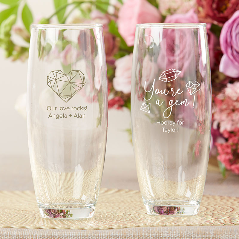 Personalized Elements 9 oz. Stemless Champagne Glass