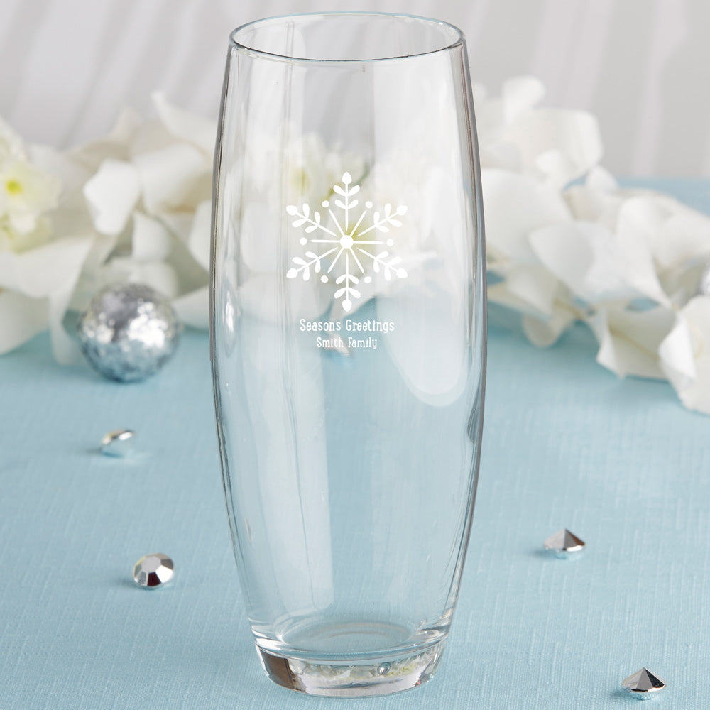 Personalized Holiday 9 oz. Stemless Champagne Glass