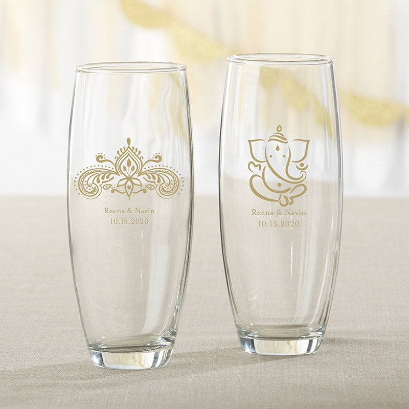 Personalized Indian Jewel 9 oz. Stemless Champagne Glass