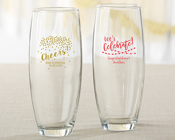 Personalized Party Time 9 oz. Stemless Champagne Glass