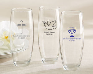 Personalized Religious 9 oz. Stemless Champagne Glass