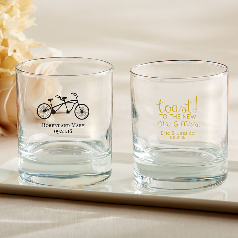 Load image into Gallery viewer, Personalized Wedding 9 oz. Rocks Glass