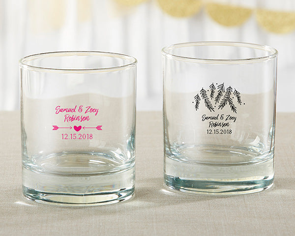 Personalized Winter 9 oz. Rocks Glass