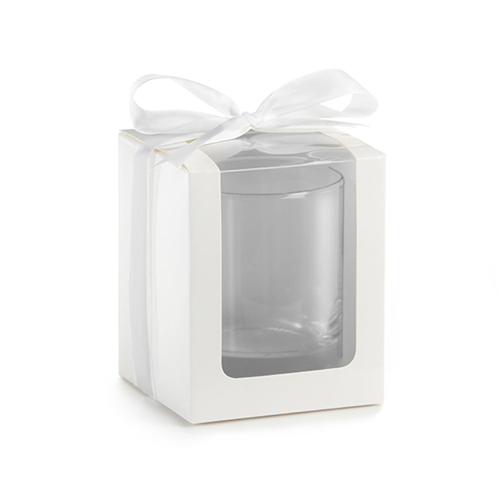 Load image into Gallery viewer, White 9 oz. Glassware Gift Box with Ribbon (Set of 12)