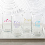 Personalized Custom Design 16 oz. Can Glass