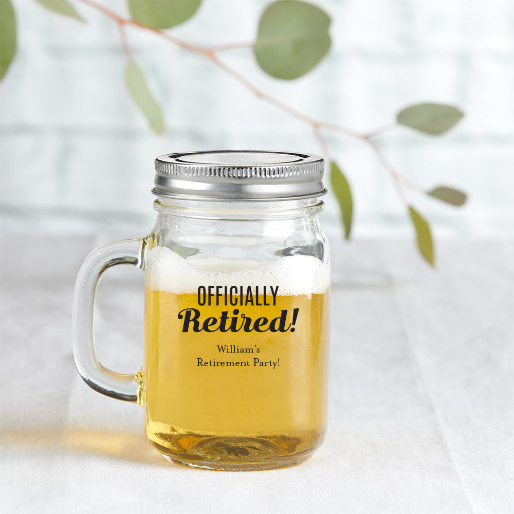 Personalized Celebration 12 oz. Mason Jar Mug with Lid