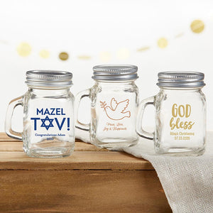 Load image into Gallery viewer, Personalized Religious 4 oz. Mini Mason Mug Shot Glass with Lid