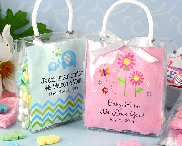 Personalized Hershey's Kisses Mini Tote Baby Shower Favors | My Wedding Favors