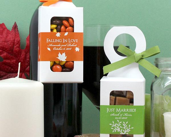 Personalized Bottle Hanger Favor Boxes - Silhouette Collection