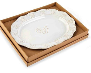 Initial Oval Monogram Platter - Multiple Options Available
