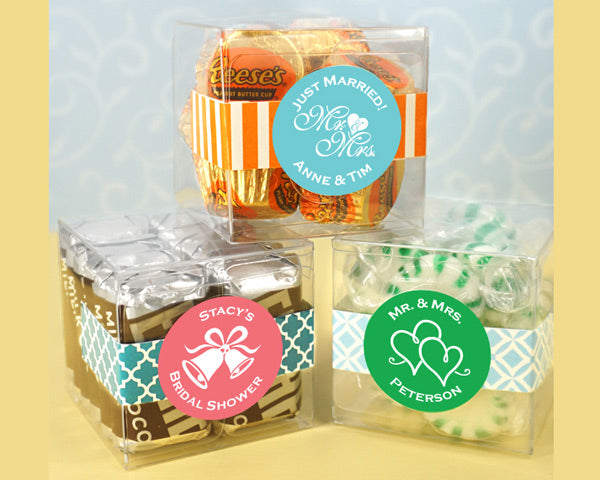 Clear Acrylic Square Favor Boxes
