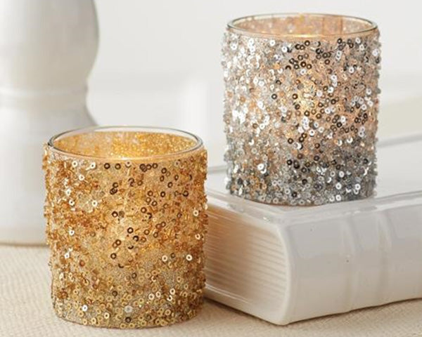 Glitter Votive/Tealight Holder (Available in Gold and Silver)