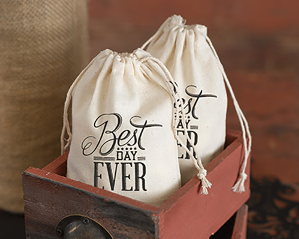 Best Day Ever Cotton Favor Bags (Package of 25)