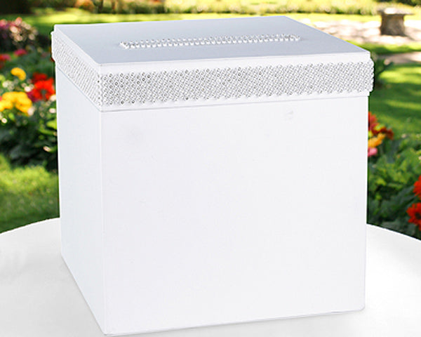 White Satin Gift Card Box - Receiving Box/Wedding Decoration