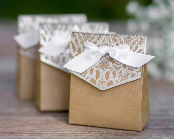 Naturally Vintage Tent Favor Boxes-Set of 25