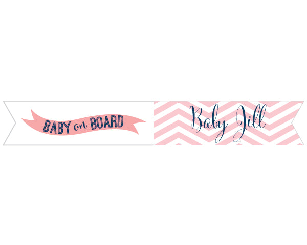 Personalized Nautical Baby Shower Party Flags