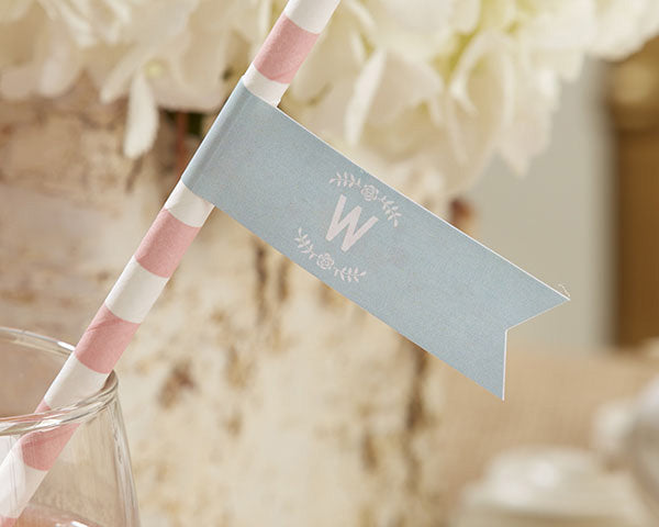 Personalized Rustic Bridal Party Flags