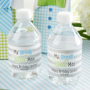 Little Man Personalized Water Bottle Labels