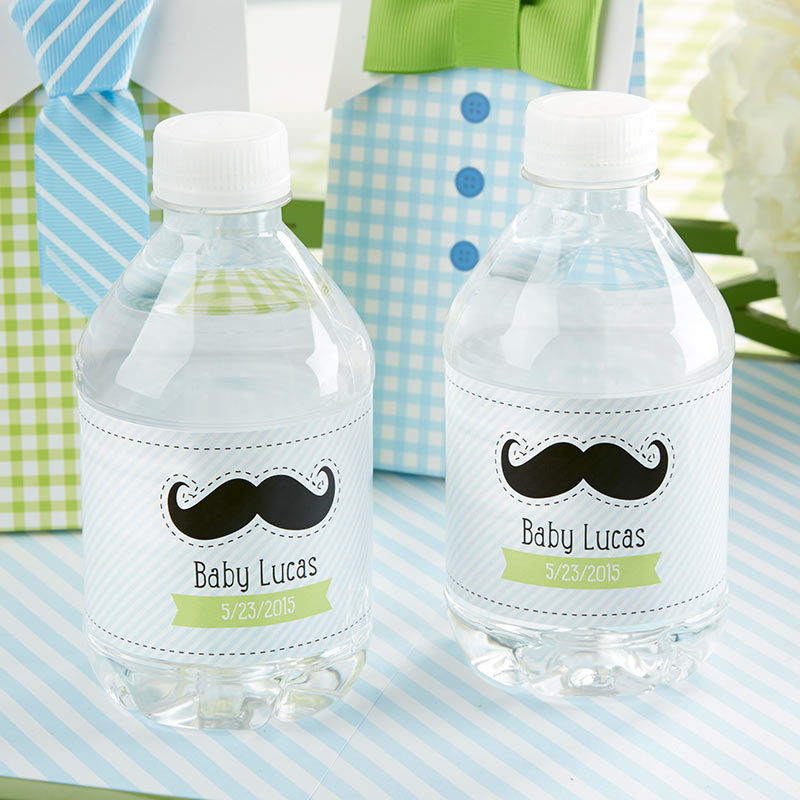 Load image into Gallery viewer, Little Man Personalized Water Bottle Labels
