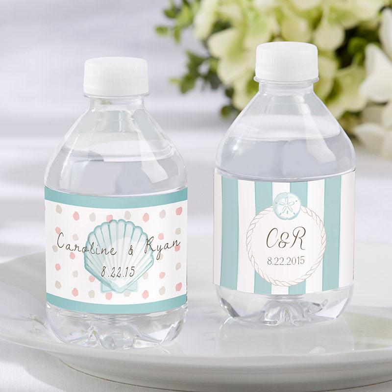 Personalized Water Bottle Labels - Beach Tides