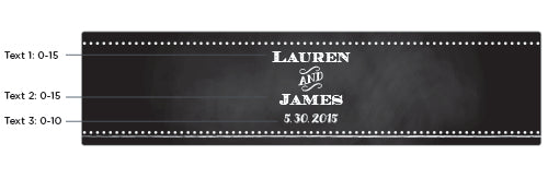 Personalized Chalk Water Bottle Labels