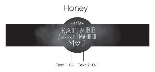 Personalized Eat, Drink & Be Married Clover Honey (Set of 12)