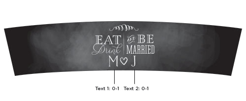 Personalized Eat, Drink & Be Married Frosted Glass Votive