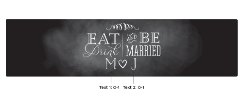 Personalized Eat, Drink & Be Married Water Bottle Labels