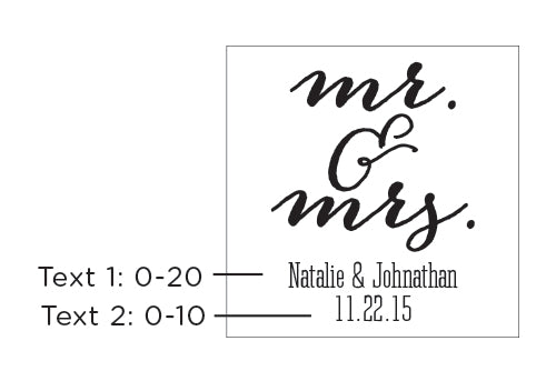 Personalized Mr. & Mrs. 9 oz. Stemless Wine Glass