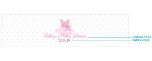 Personalized Tutu Cute Water Bottle Labels