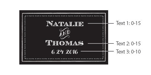 Personalized White Wedding Matchboxes - Chalk (Set of 50)