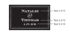 Load image into Gallery viewer, Personalized Chalk Black Wedding Matchboxes (Set of 50)