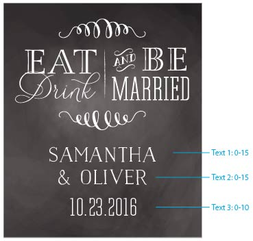 Personalized Eat Drink be Married Wine Bottle Labels