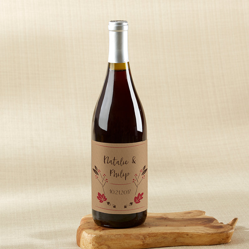 Personalized Fall Wine Bottle Labels