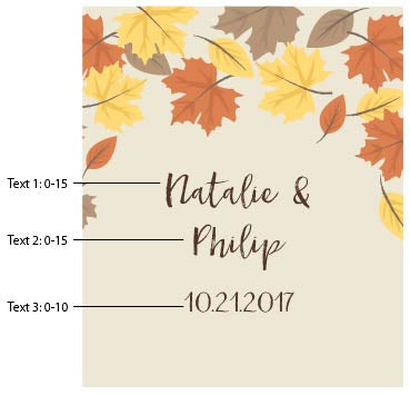 Personalized Fall Leaves Wine Bottle Labels