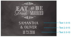 Personalized Eat, Drink, & Be Married Mini Wine Bottle Labels