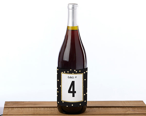 Party Time Wine Label Table Numbers (1-20)
