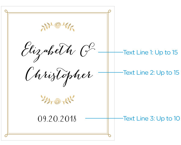 Personalized Classic Wedding Wine Bottle Labels