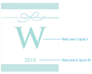 Personalized Something Blue Wine Bottle Labels