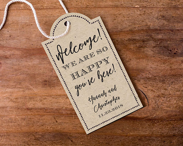 Personalized Rustic Statement Tags (Set of 12)